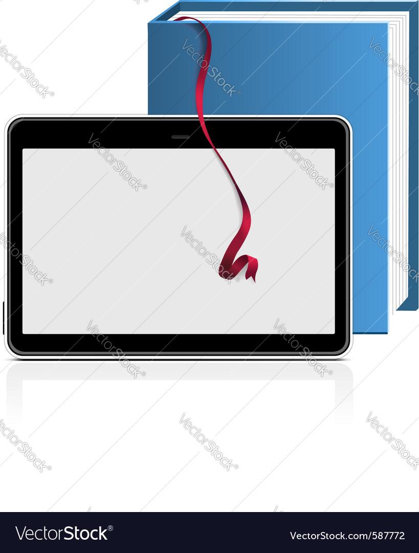 Ebook reader vector | Price: 1 Credit (USD $1)