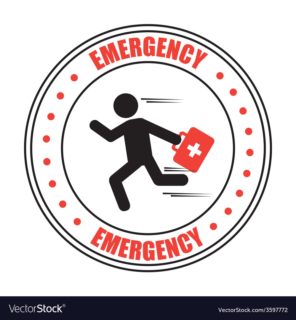 Emergency icon vector | Price: 1 Credit (USD $1)