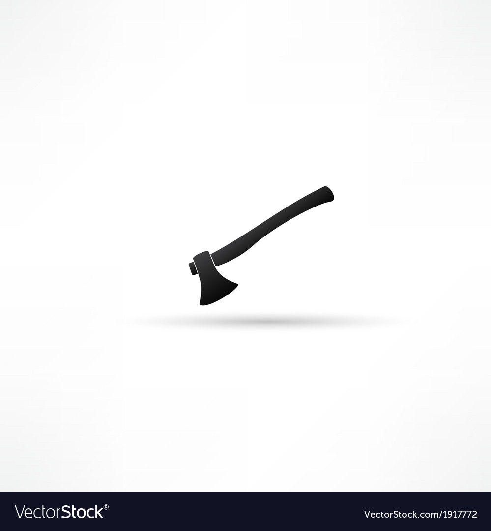 Fire ax on a white background vector | Price: 1 Credit (USD $1)