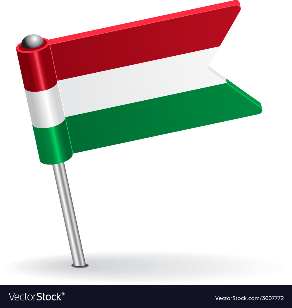 Hungarian pin icon flag vector | Price: 1 Credit (USD $1)