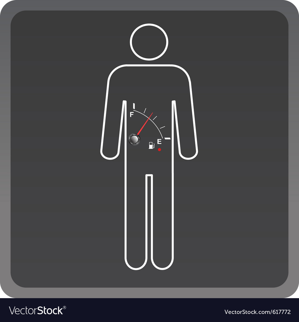 Man icon with fuel gauge vector | Price: 1 Credit (USD $1)