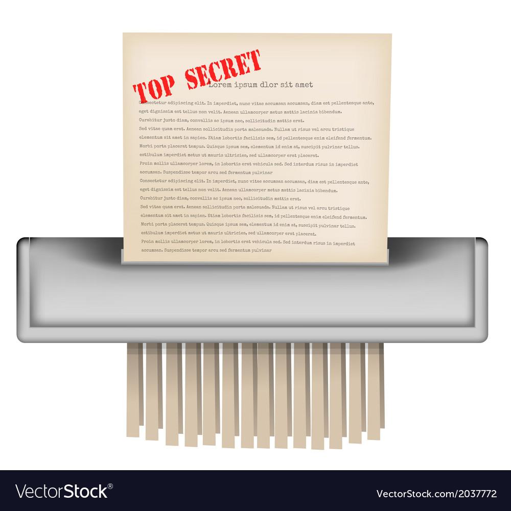 Paper shredder vector | Price: 1 Credit (USD $1)