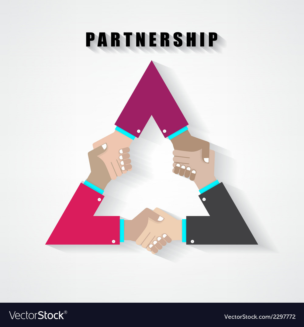 Partnership sign vector | Price: 1 Credit (USD $1)