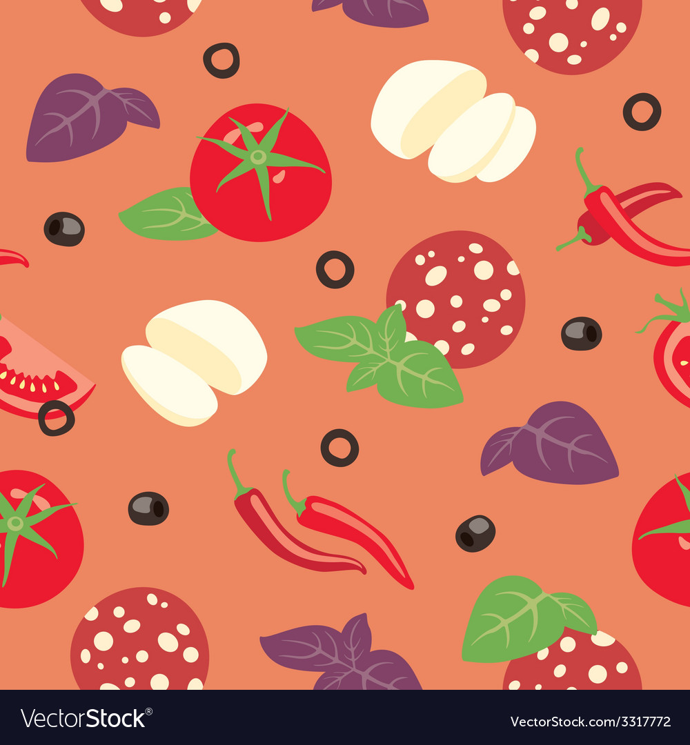 Pizza diavolo ingredients vector | Price: 1 Credit (USD $1)