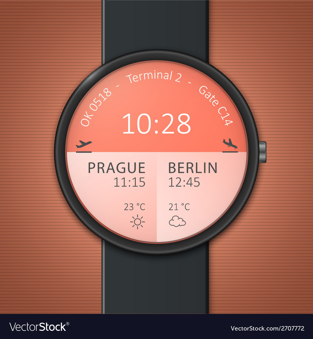 Smartwatch mockup vector | Price: 1 Credit (USD $1)
