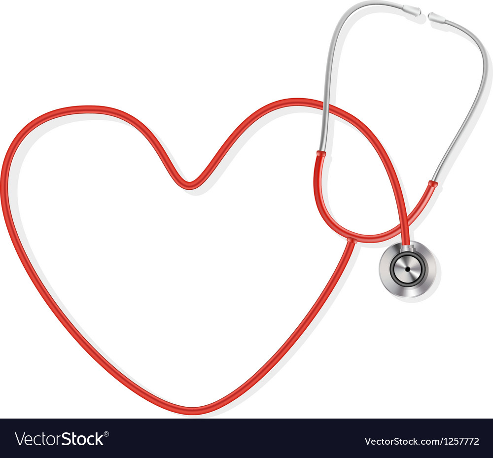 Stethoscope making a heart shape vector | Price: 1 Credit (USD $1)