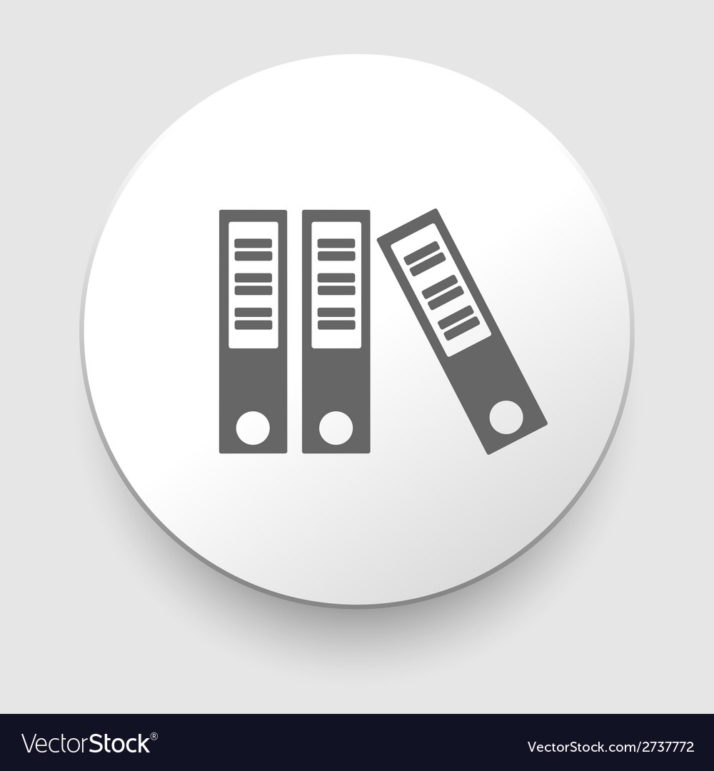 Three grey folders on white background vector | Price: 1 Credit (USD $1)