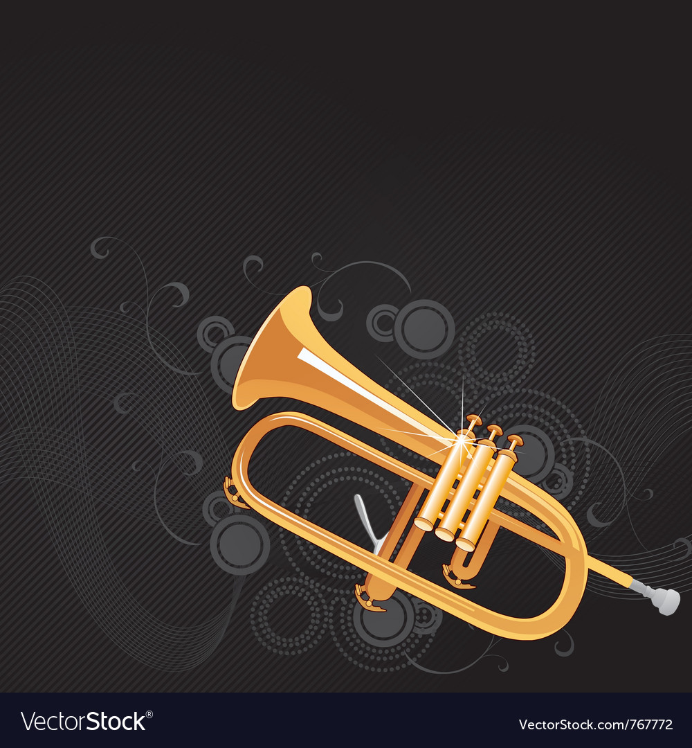 Trumpet background vector | Price: 1 Credit (USD $1)
