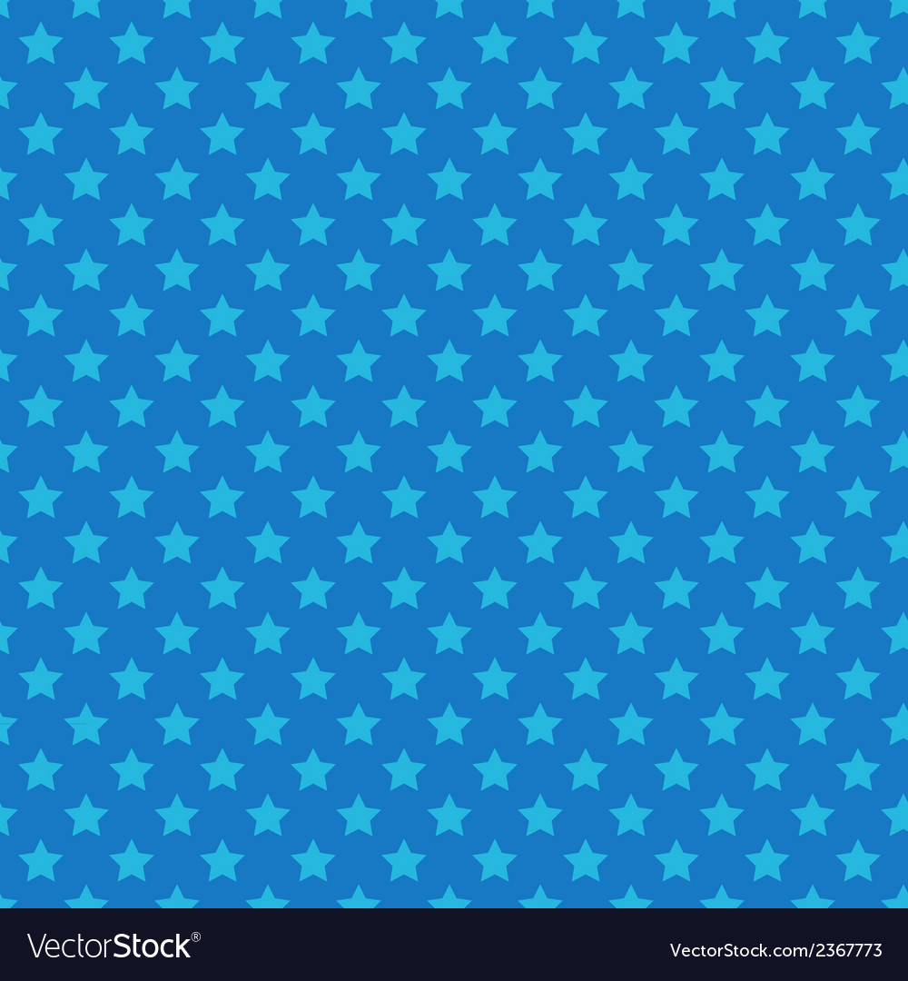 Blue seamless pattern with stars vector | Price: 1 Credit (USD $1)