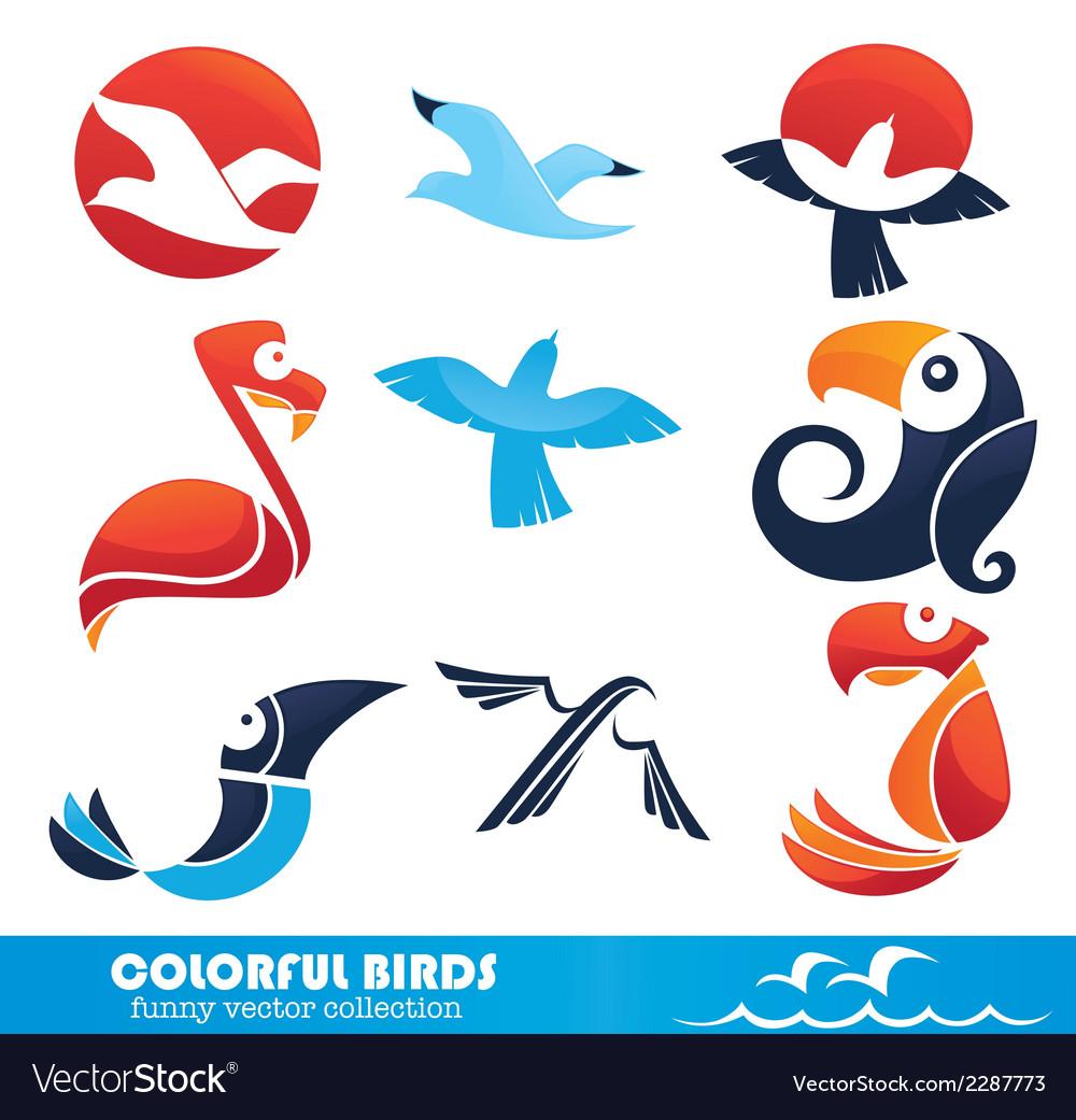 Cartoon birds collection vector | Price: 1 Credit (USD $1)
