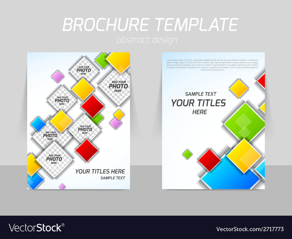 Colorful squares flyer template vector | Price: 1 Credit (USD $1)