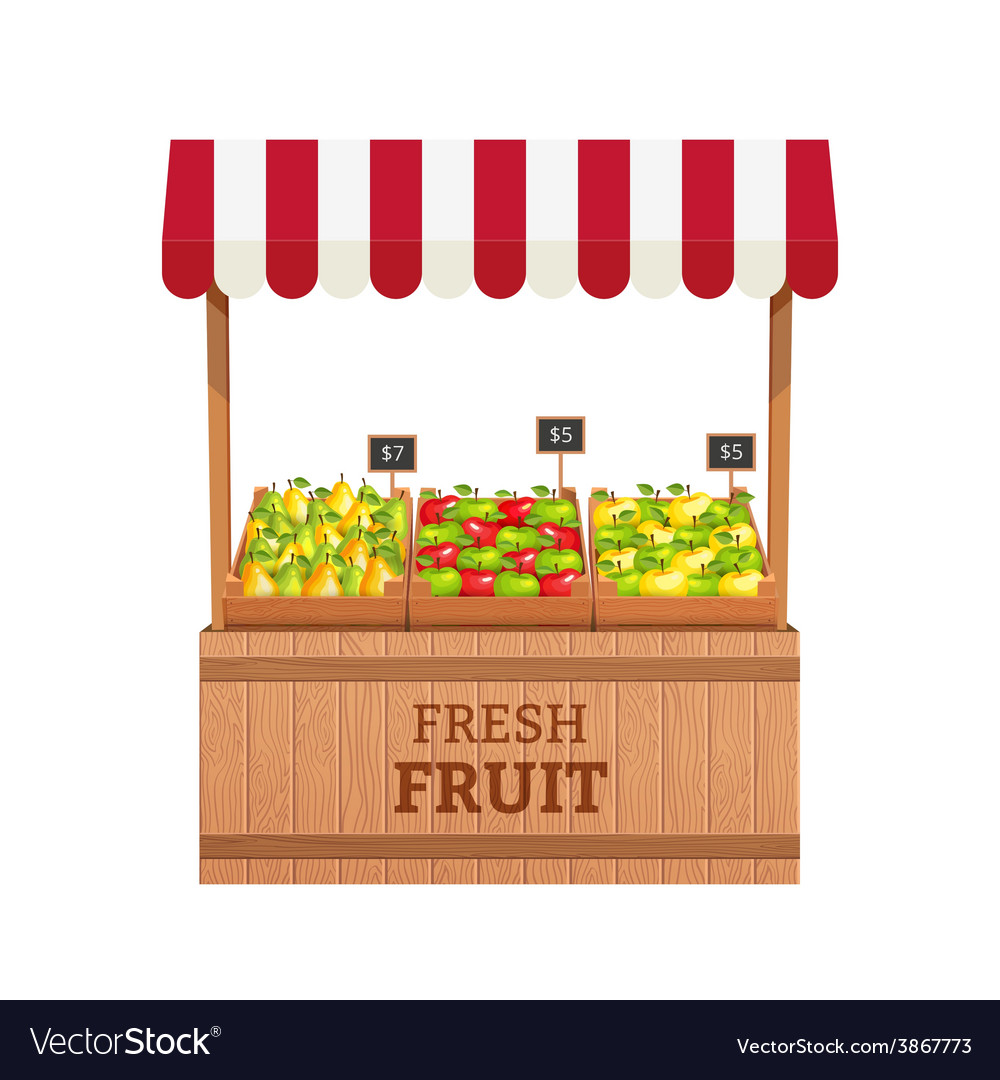 Fruit stand vector | Price: 1 Credit (USD $1)