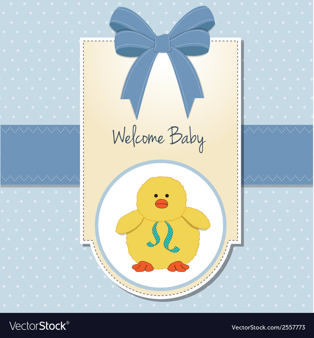 New baby boy welcome card vector | Price: 1 Credit (USD $1)