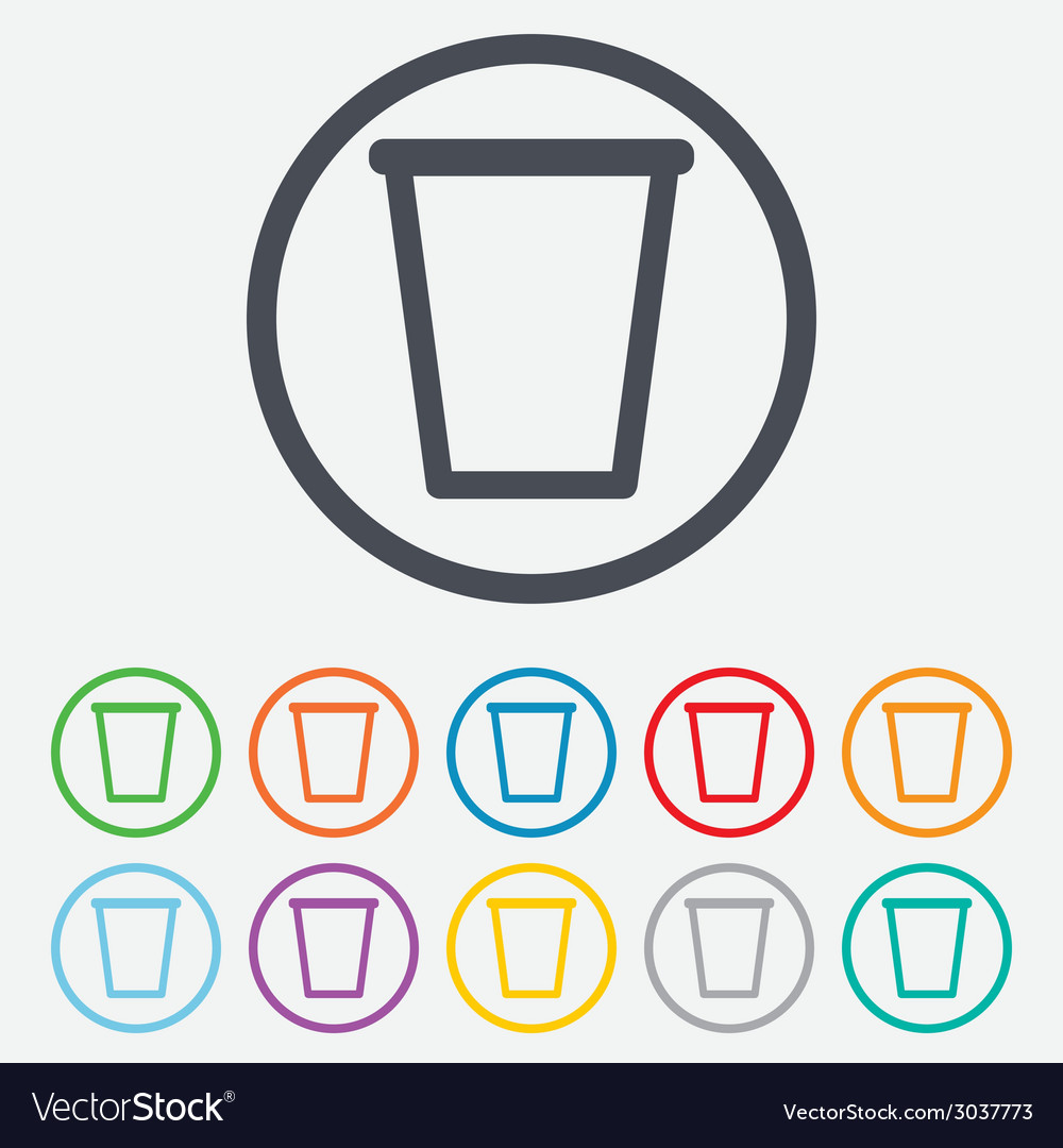 Recycle bin sign icon bin symbol vector | Price: 1 Credit (USD $1)