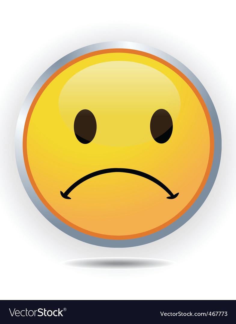 Sad face vector | Price: 1 Credit (USD $1)