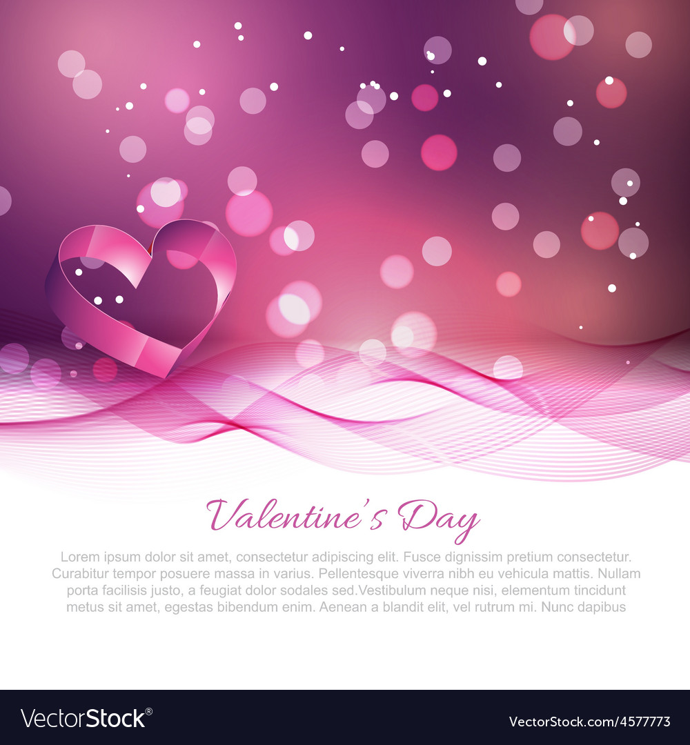 Valentine day background with wave effect vector | Price: 1 Credit (USD $1)