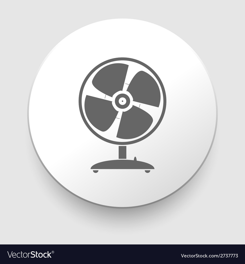 Web button - desktop fan vector | Price: 1 Credit (USD $1)