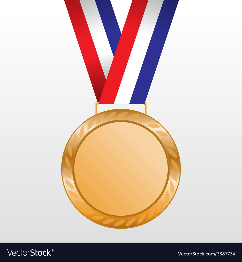 Bronze medal winners on the tape vector | Price: 1 Credit (USD $1)
