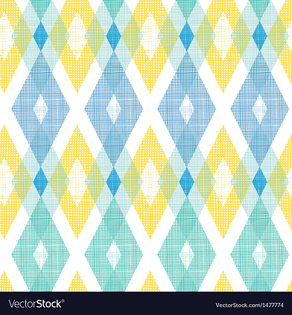 Colorful fabric ikat diamond seamless pattern vector | Price: 1 Credit (USD $1)