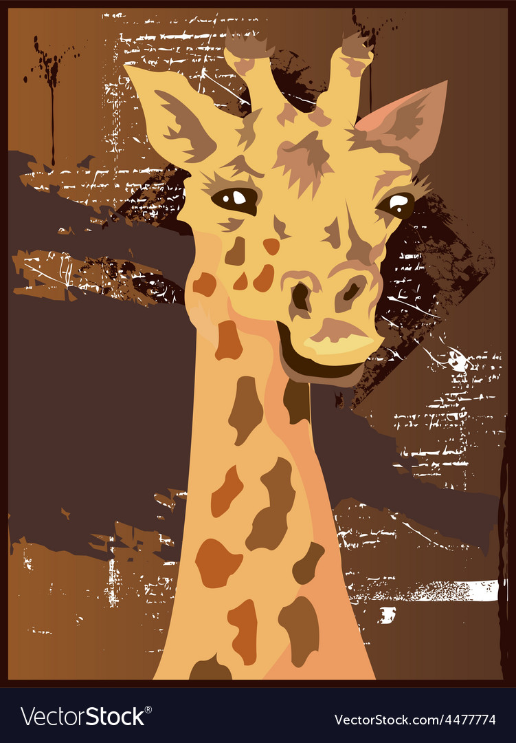 Giraffe design vector | Price: 1 Credit (USD $1)