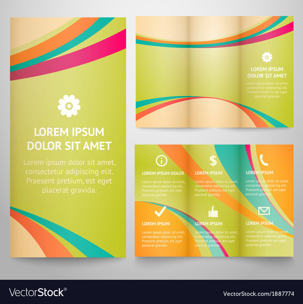 Professional three fold business flyer template vector | Price: 1 Credit (USD $1)