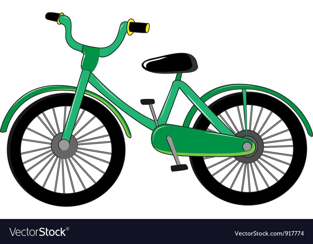 Small green bike vector | Price: 3 Credit (USD $3)
