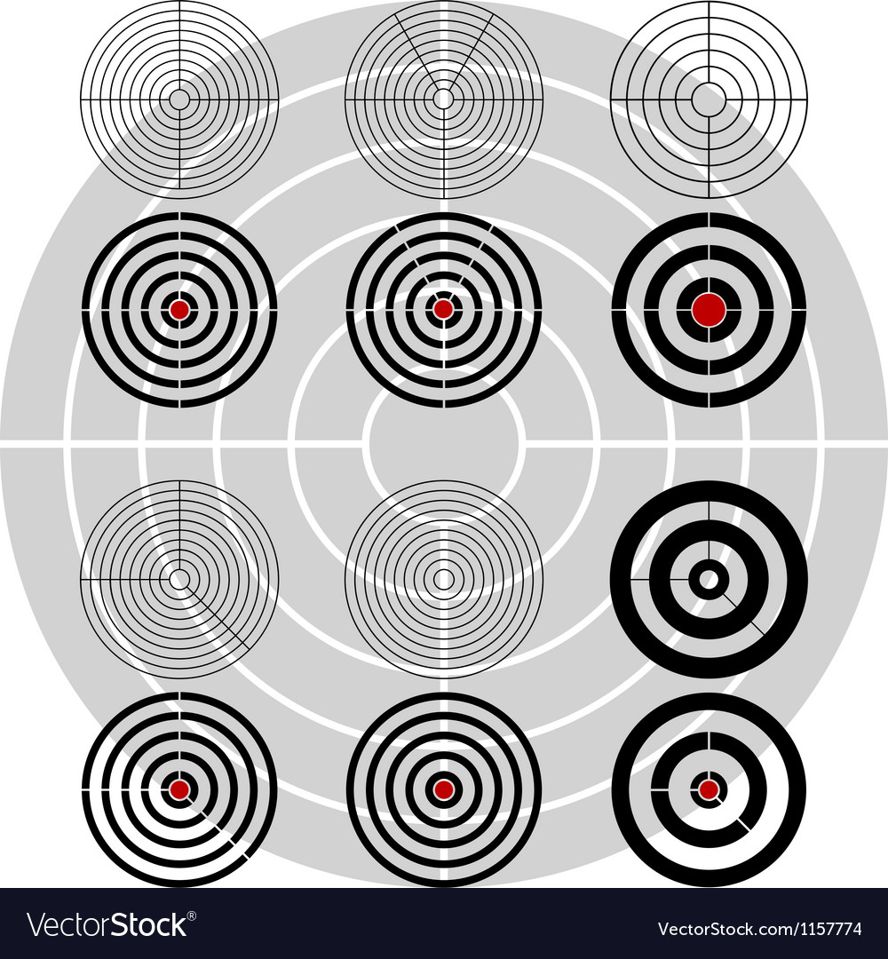 Stencils of targets second variant vector | Price: 1 Credit (USD $1)