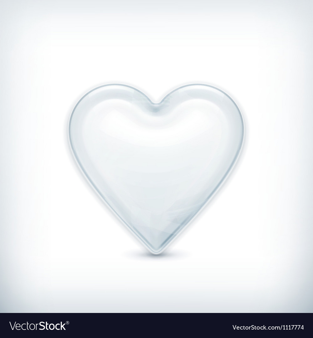 White heart icon vector | Price: 1 Credit (USD $1)