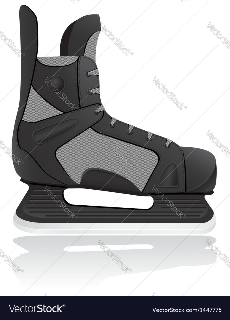 Hockey skates isolated on whit vector | Price: 1 Credit (USD $1)