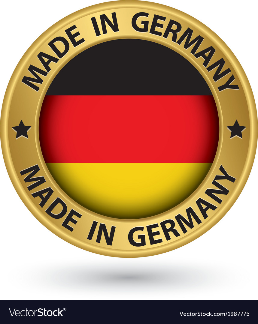 Made in germany gold label vector | Price: 1 Credit (USD $1)