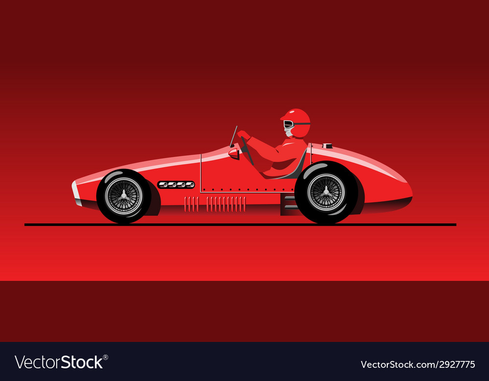 Old sports car vector | Price: 3 Credit (USD $3)
