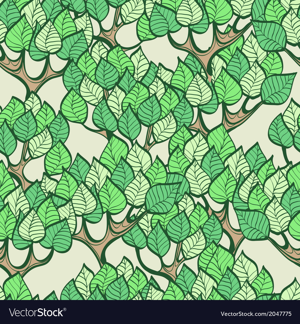 Seamless green background with forest vector | Price: 1 Credit (USD $1)