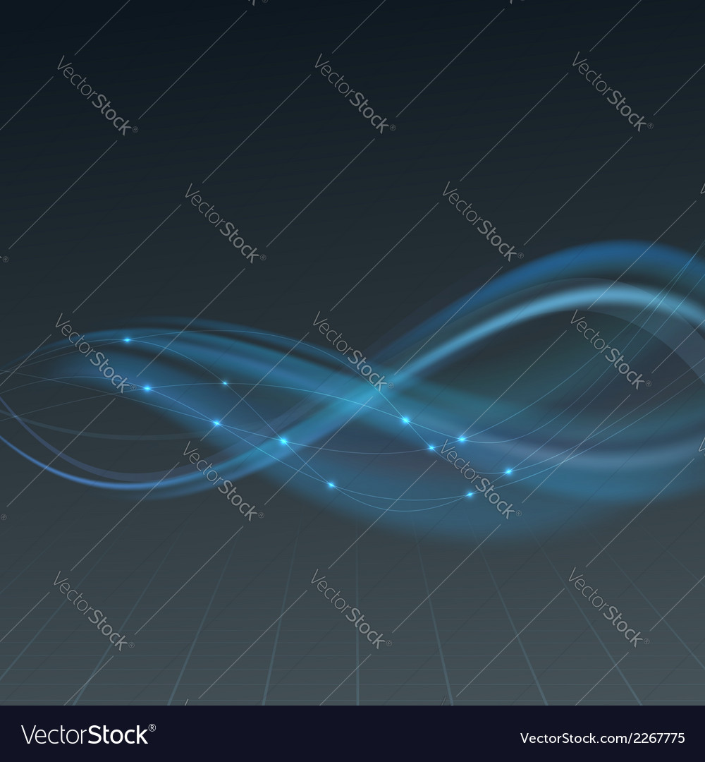 Shimmering lens abstract wave background vector | Price: 1 Credit (USD $1)