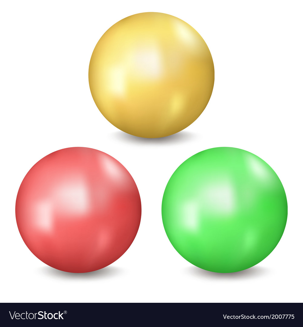 Three balls vector | Price: 1 Credit (USD $1)