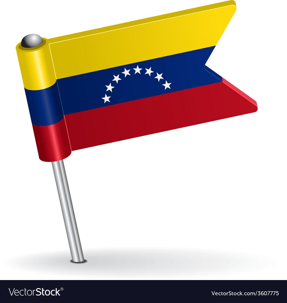 Venezuelan pin icon flag vector | Price: 1 Credit (USD $1)