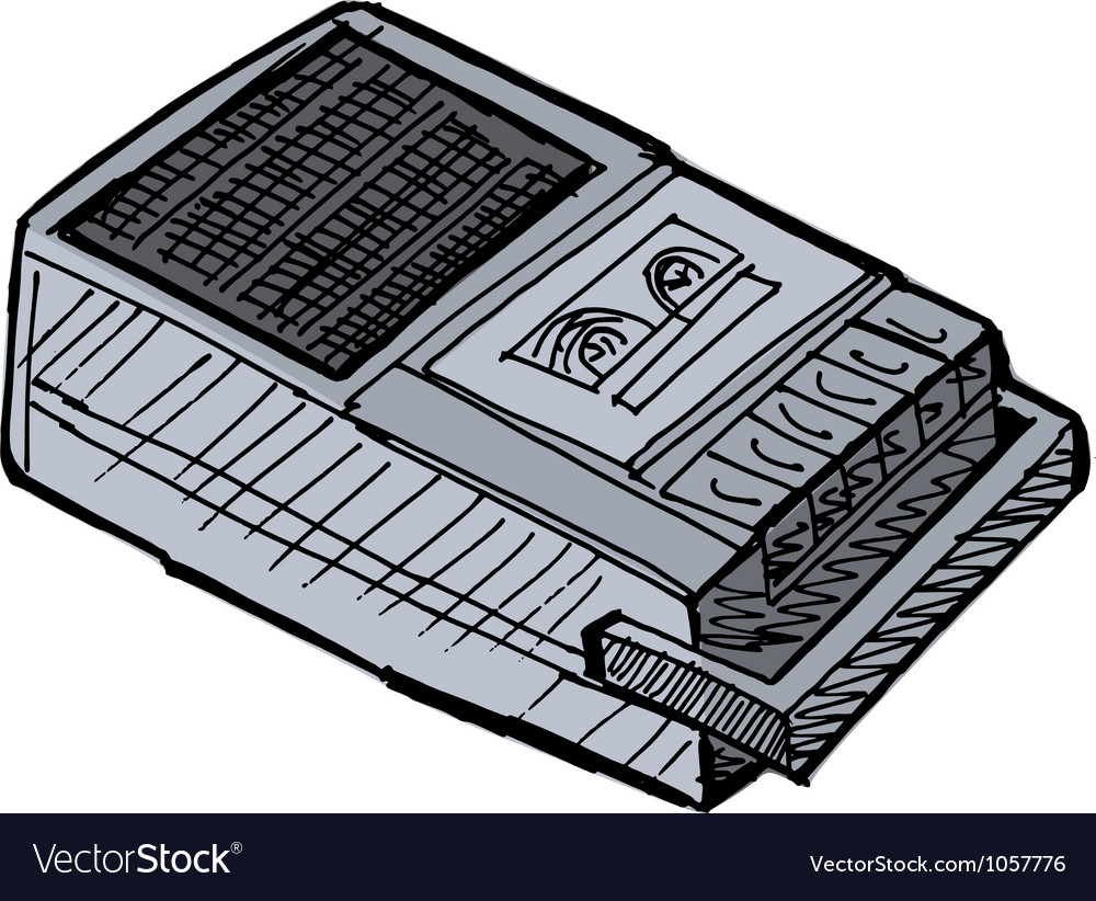 Compact tape recorder vector