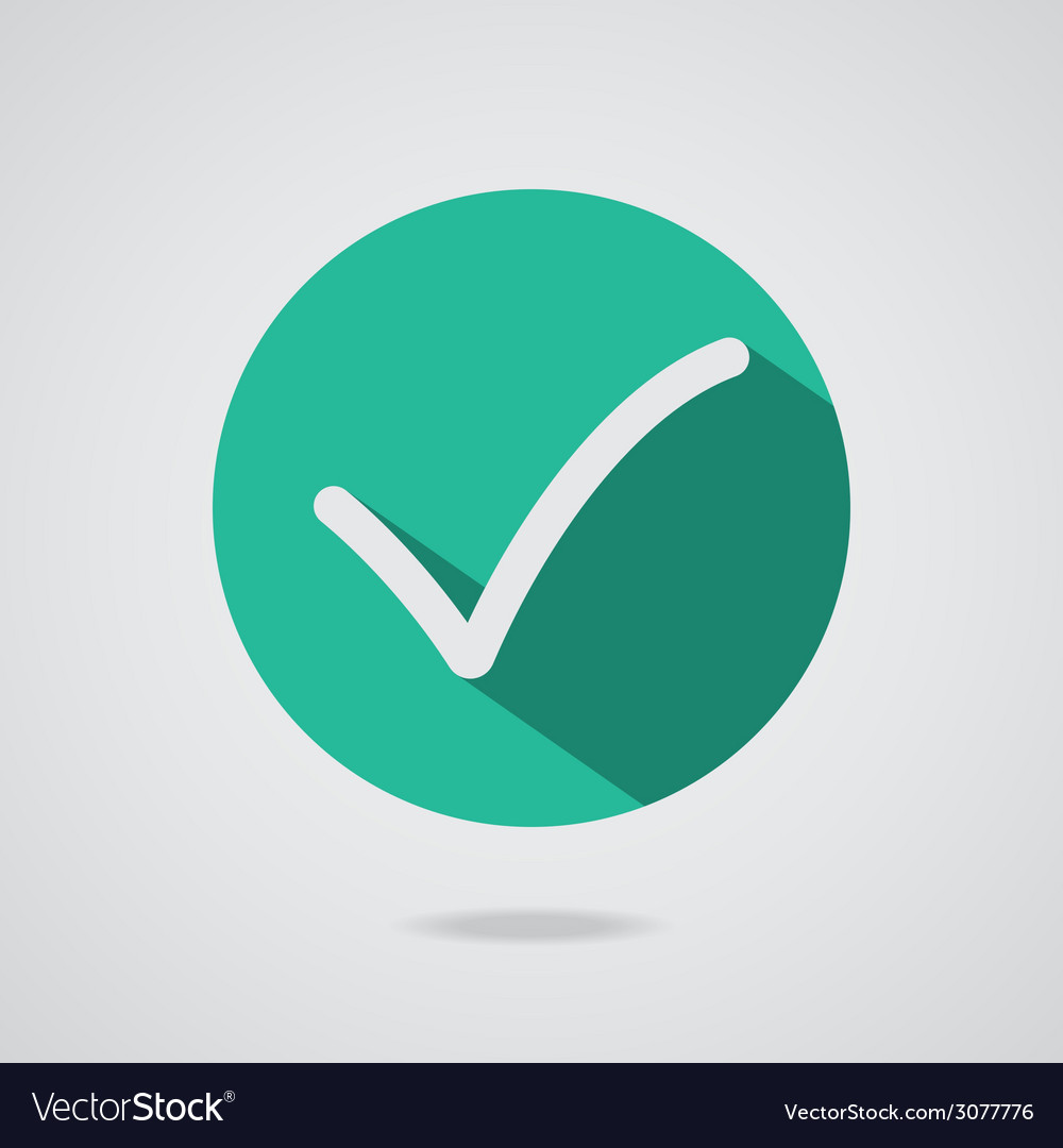 Different white check mark or tick in circle vector | Price: 1 Credit (USD $1)