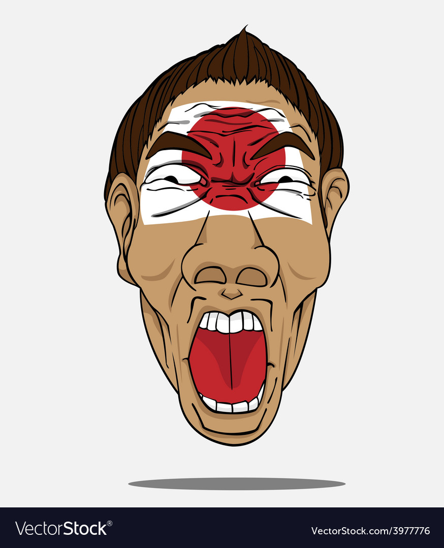 Football fan from japan vector | Price: 1 Credit (USD $1)