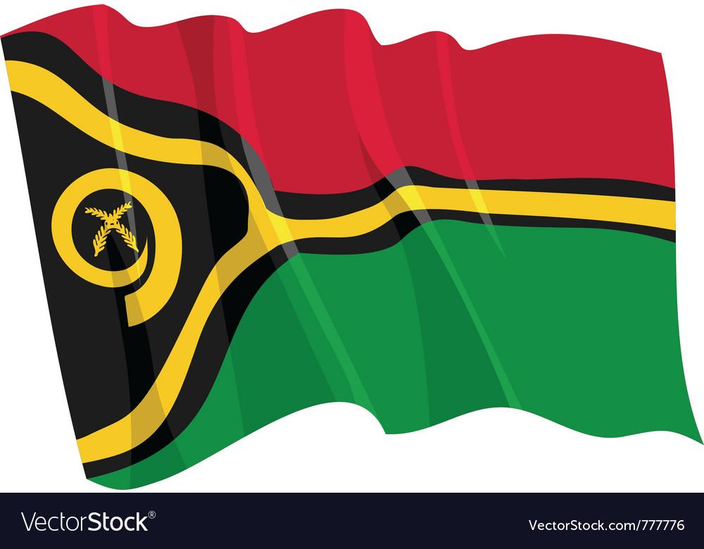 Political waving flag of vanuatu vector | Price: 1 Credit (USD $1)