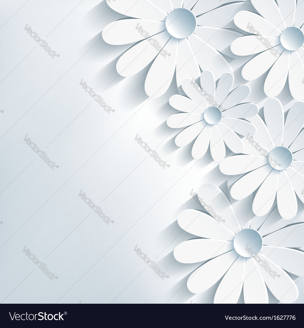Stylish creative abstract background 3d flower vector | Price: 1 Credit (USD $1)