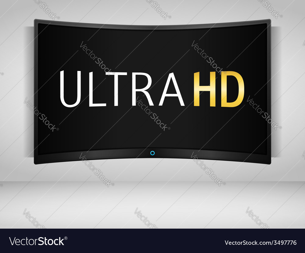 Ultra hd tv vector | Price: 1 Credit (USD $1)