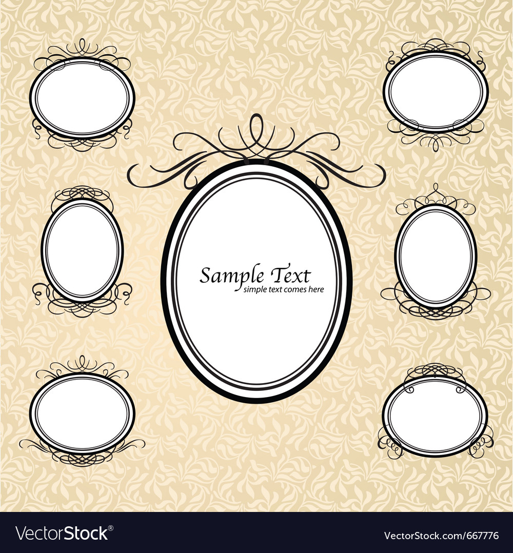 Vintage ornate frames vector | Price: 1 Credit (USD $1)