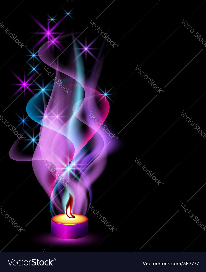 Candle flame vector | Price: 1 Credit (USD $1)