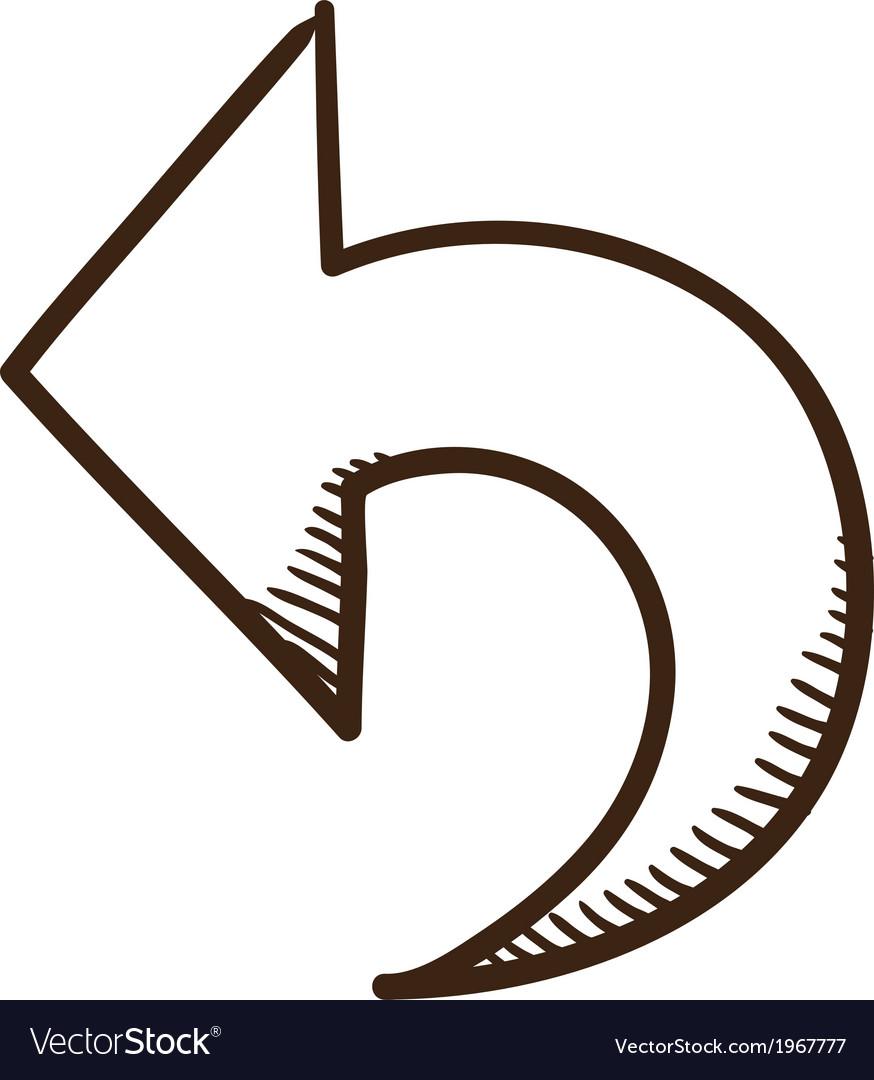 Direction arrow symbol vector | Price: 1 Credit (USD $1)