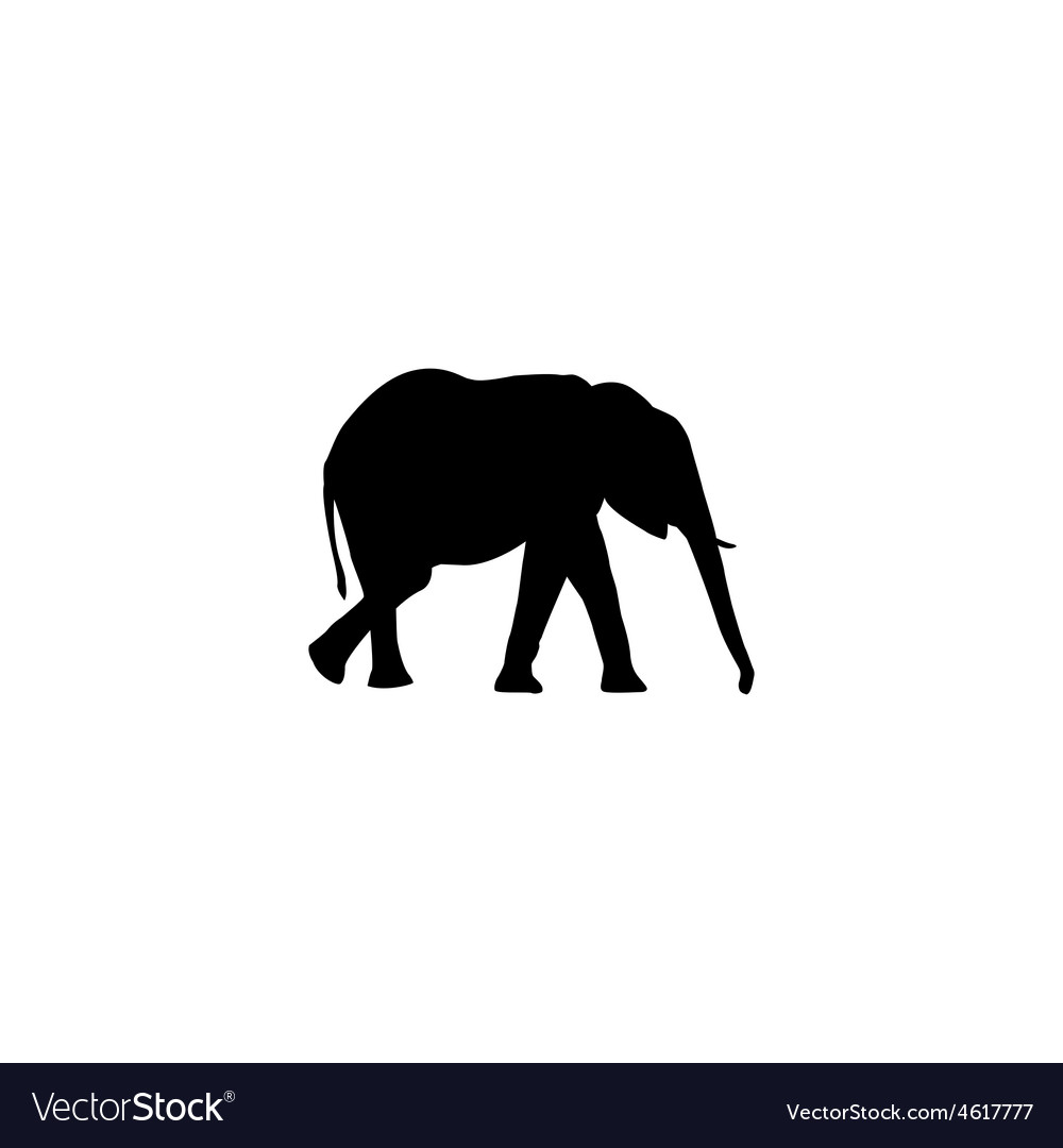 Elephant silhouette vector | Price: 1 Credit (USD $1)