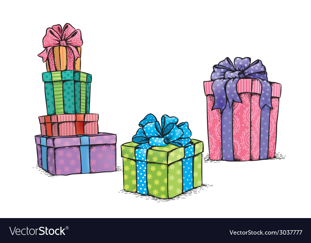 Gifts vector | Price: 1 Credit (USD $1)