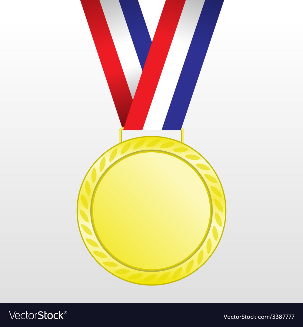 Gold medal winners at the tape vector | Price: 1 Credit (USD $1)