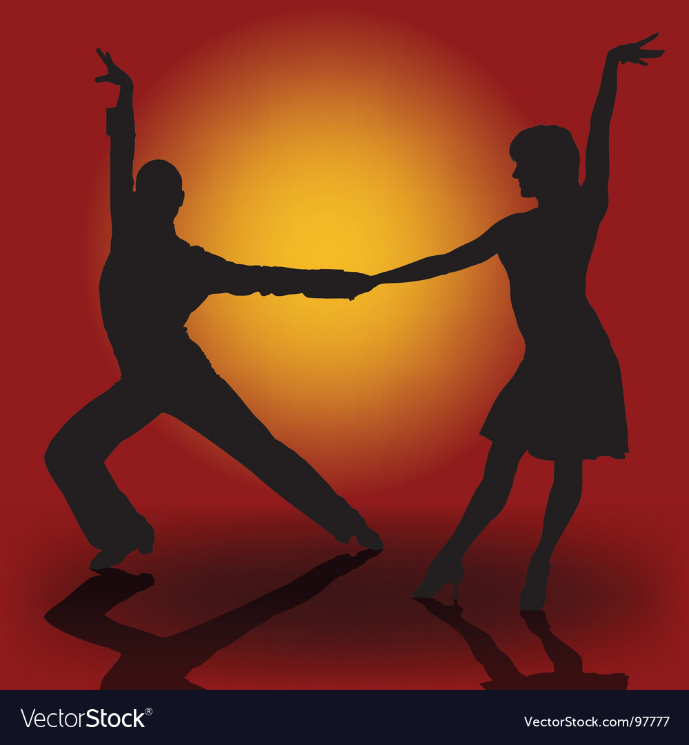 Latino dancers vector | Price: 1 Credit (USD $1)