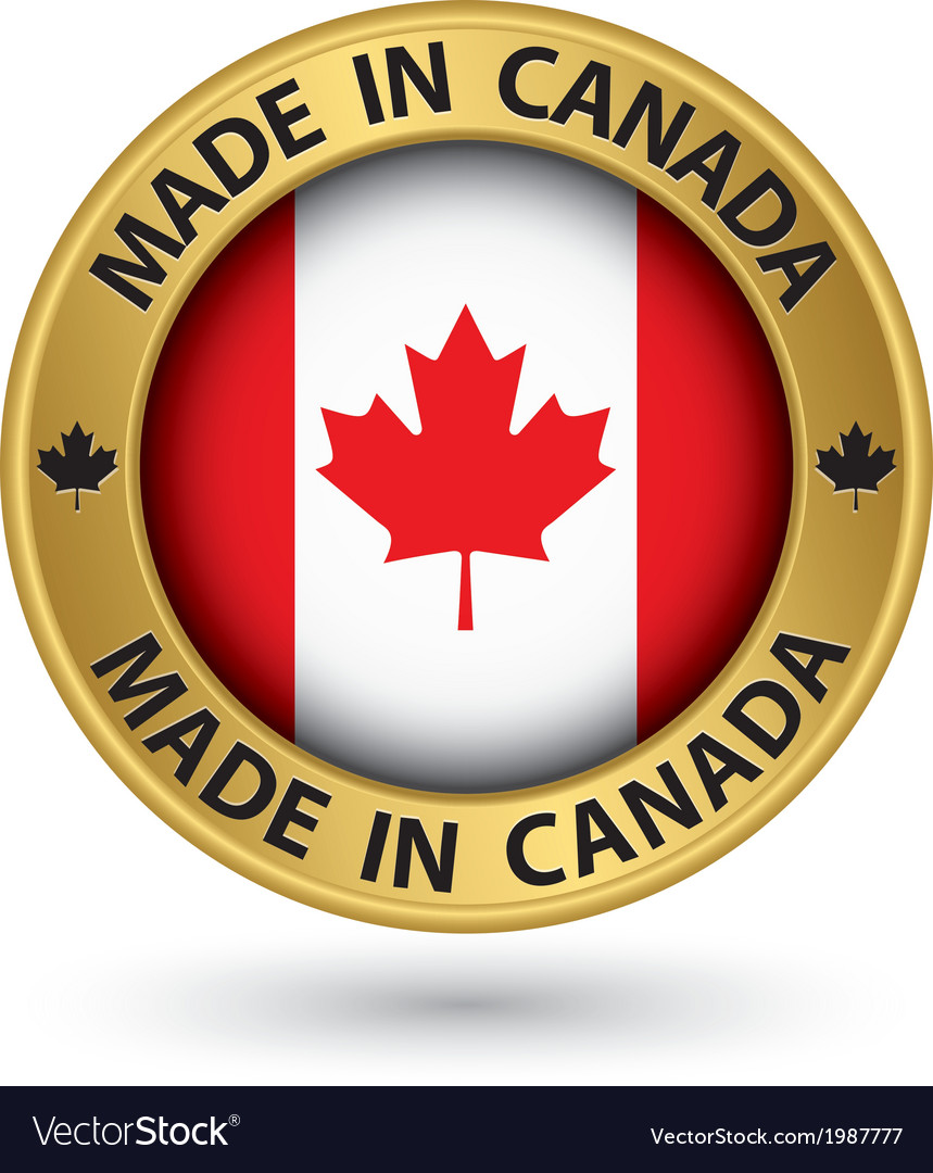 Made in canada gold label vector | Price: 1 Credit (USD $1)