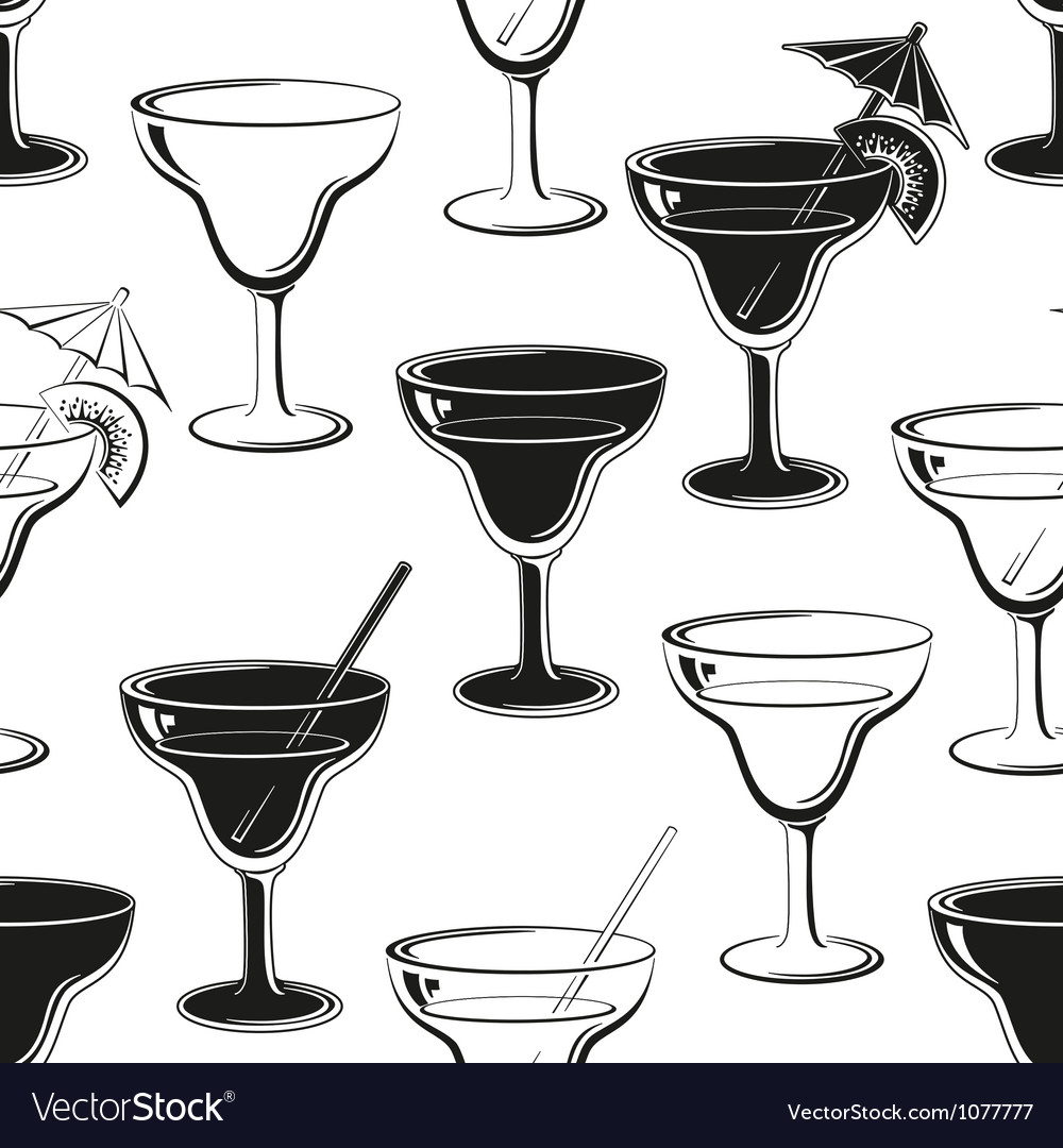 Seamless background glasses silhouettes vector | Price: 1 Credit (USD $1)